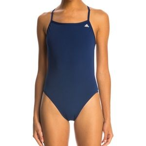 Adidas Solid C Back Infinitex One Piece Swimsuit